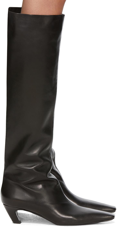Khaite 黑色 Slouch 高筒靴