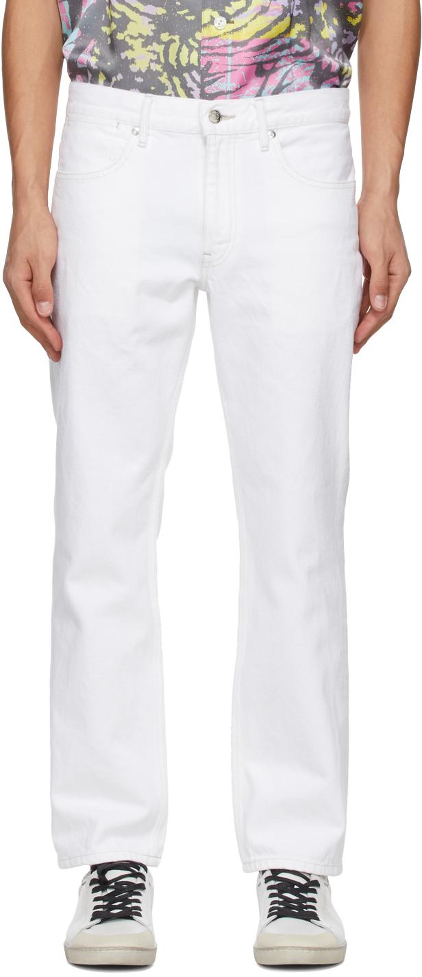 Tanaka 白色 Slim Crop 牛仔裤