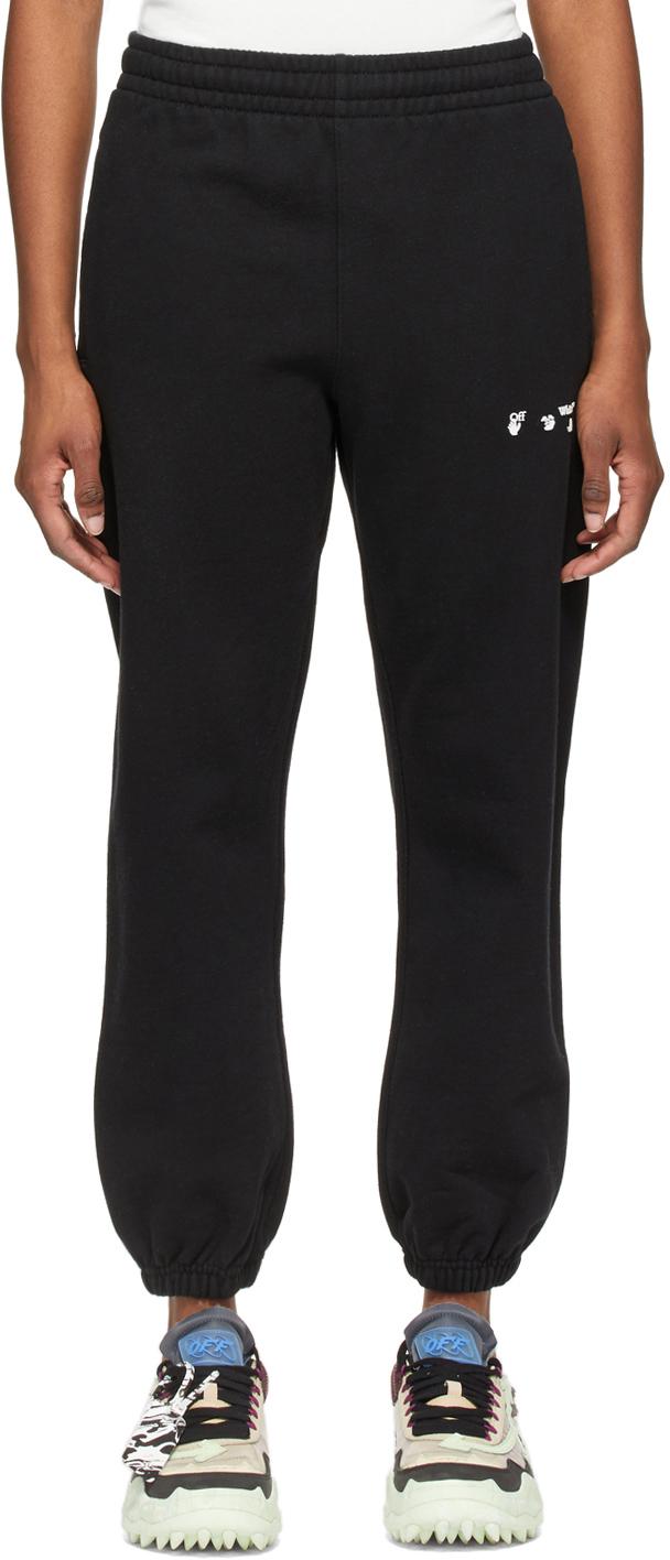 Off-White 黑色徽标运动裤