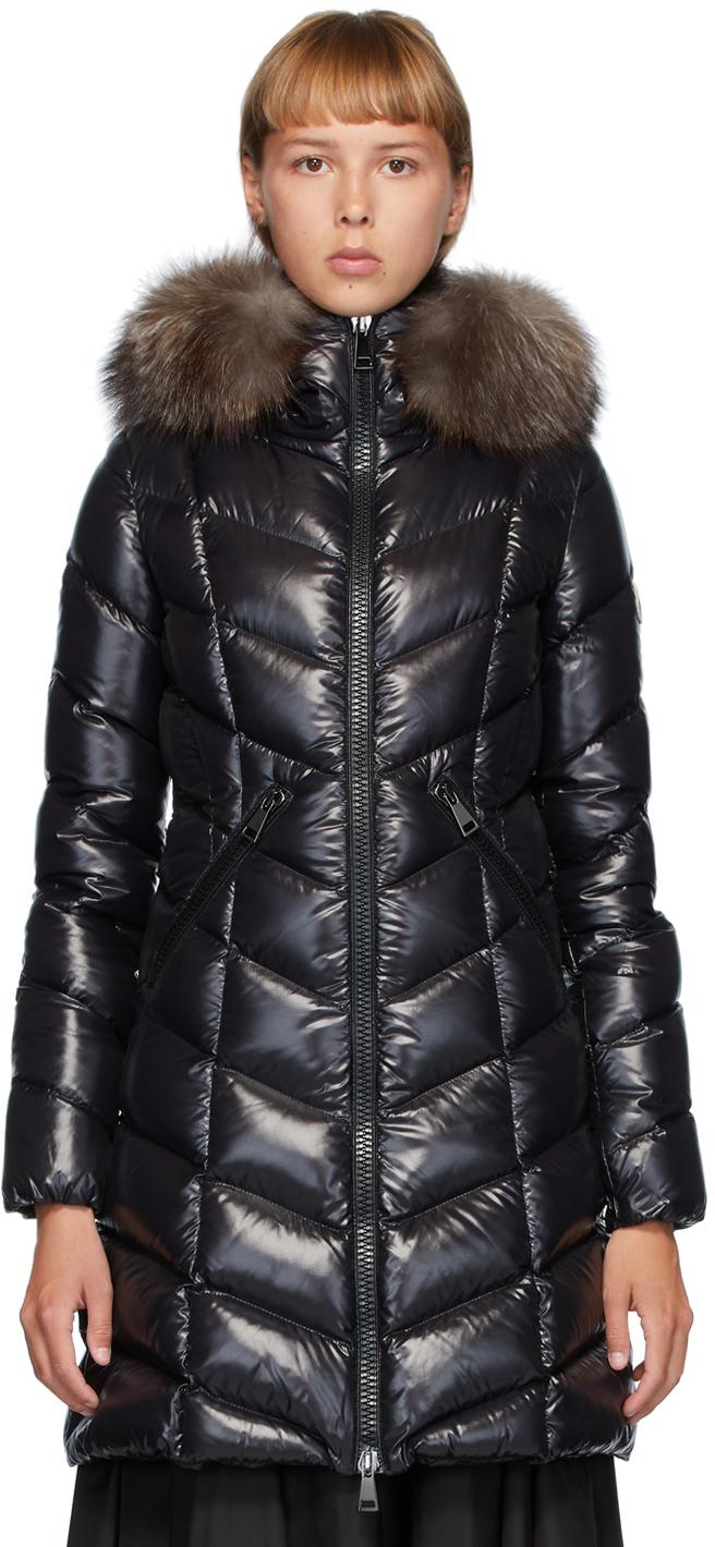 Moncler 黑色 Fulmarus 羽绒大衣