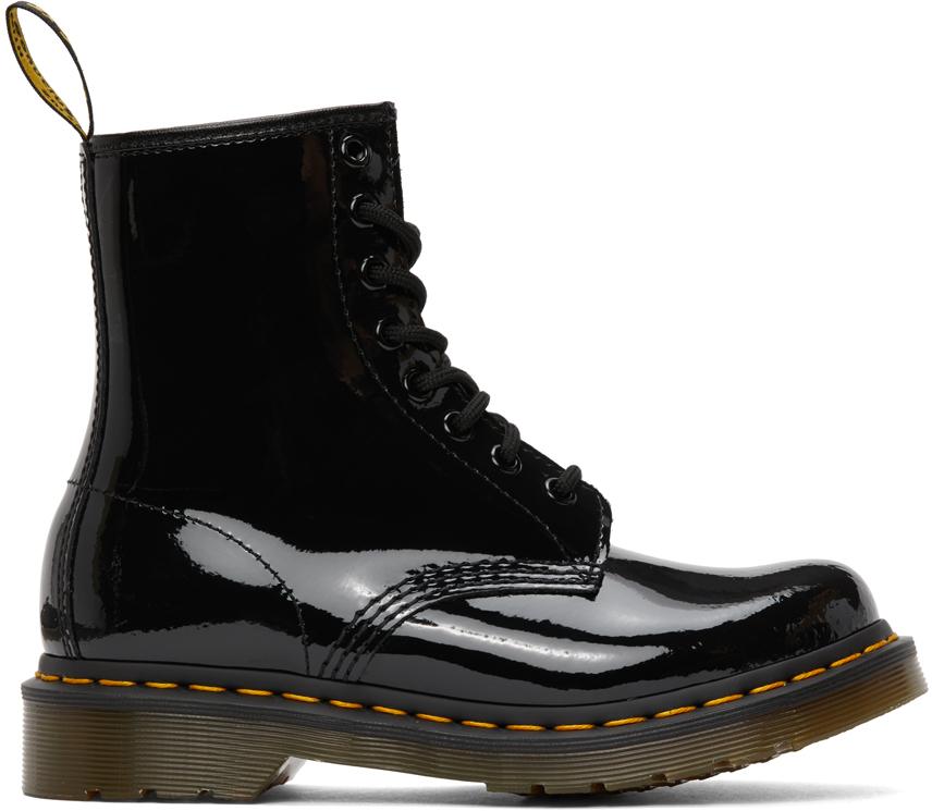 Dr. Martens 黑色 1460 漆皮踝靴
