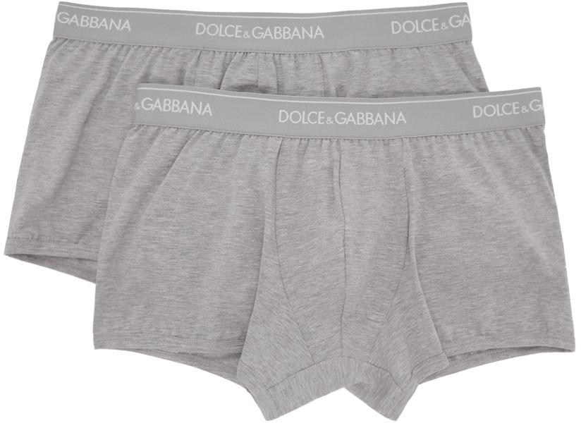 Dolce & Gabbana 两件装灰色 Regular 平角内裤