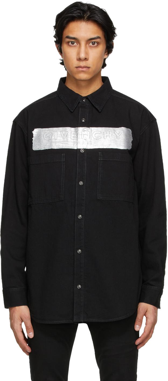 Givenchy 黑色徽标牛仔衬衫