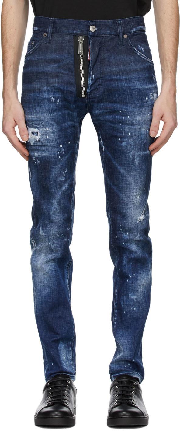 Dsquared2 靛蓝色 Cool Guy 牛仔裤
