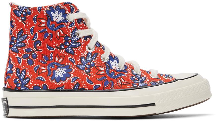 Converse 红色 Culture Prints Chuck 70 高帮运动鞋