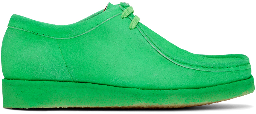 Padmore & Barnes SSENSE 独家发售绿色 Original P204 绒面革莫卡辛鞋
