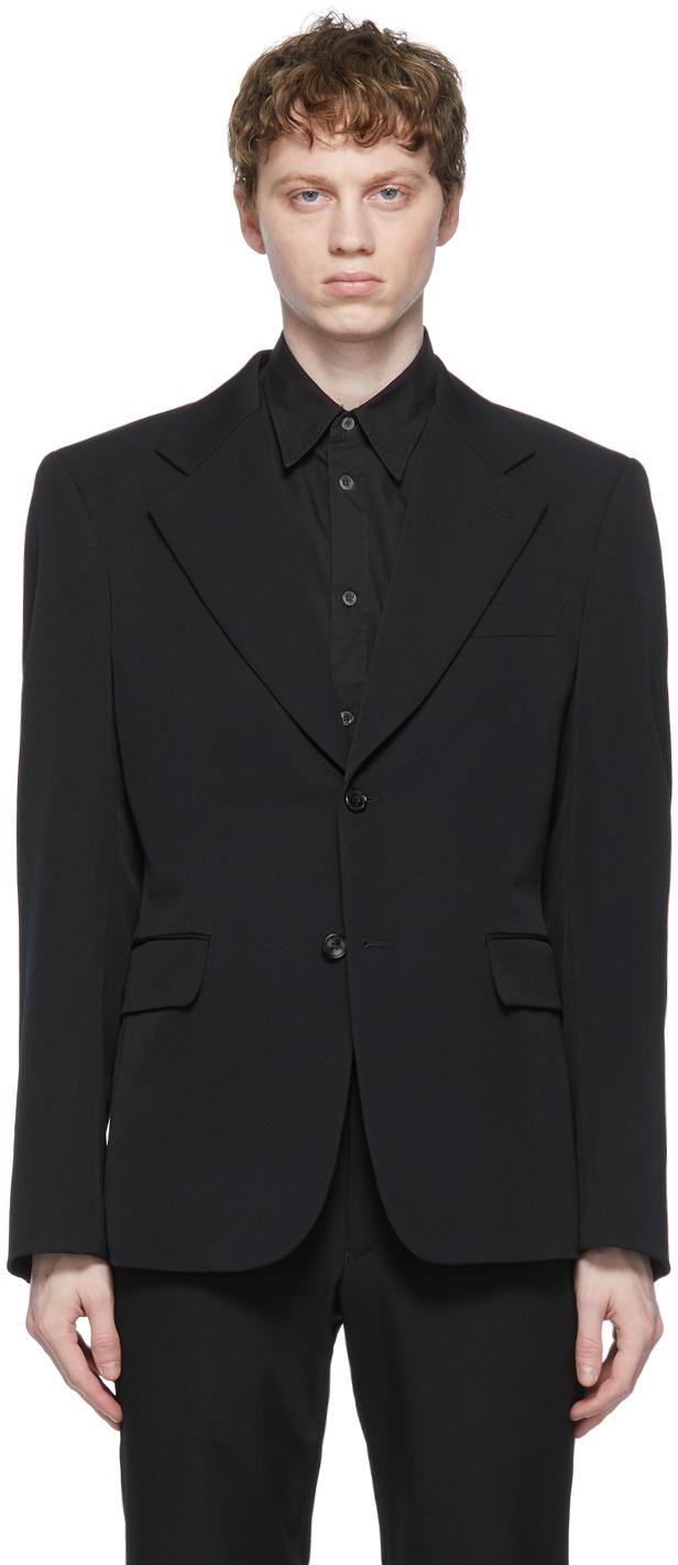Comme des Garçons Homme Plus 黑色羊毛西装外套