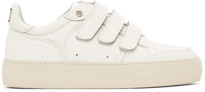 AMI Alexandre Mattiussi 灰白色魔术贴运动鞋