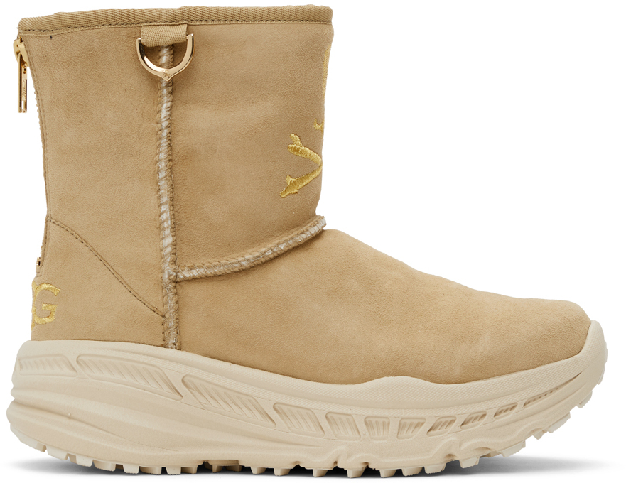 mastermind WORLD 黄褐色 UGG 联名 CA805 踝靴