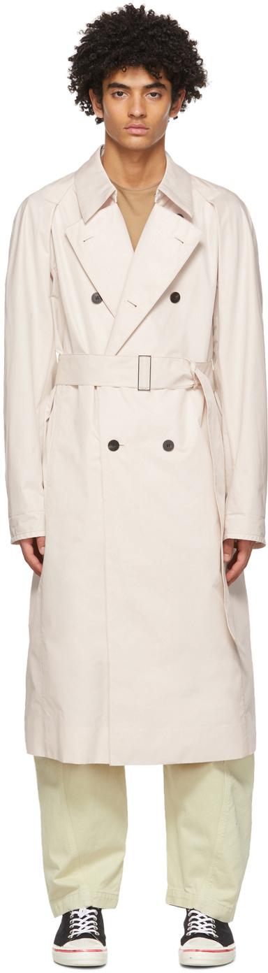 OVERCOAT 米色 Crispy Cotton 风衣