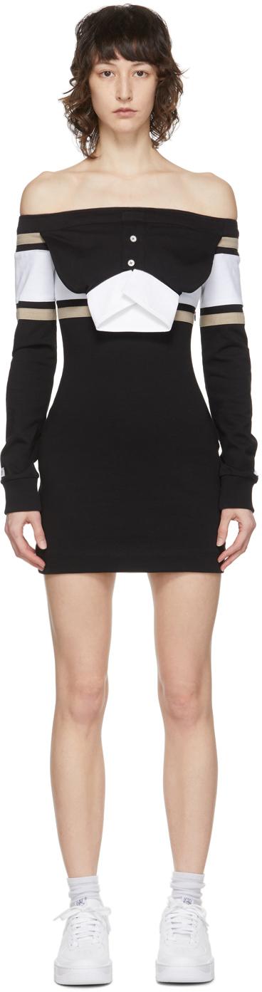 Lourdes 黑色套头连衣裙