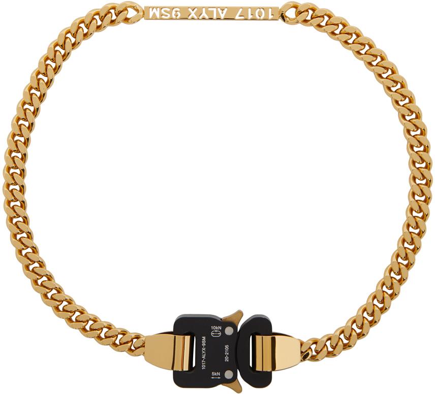 1017 ALYX 9SM 金色插扣项链