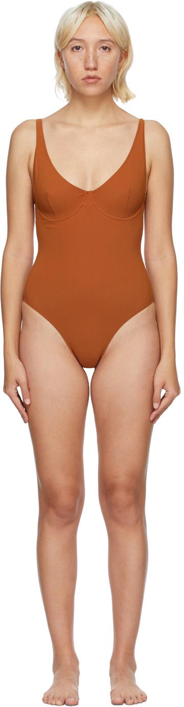 Lido 橙色 Diciotto 连体泳衣