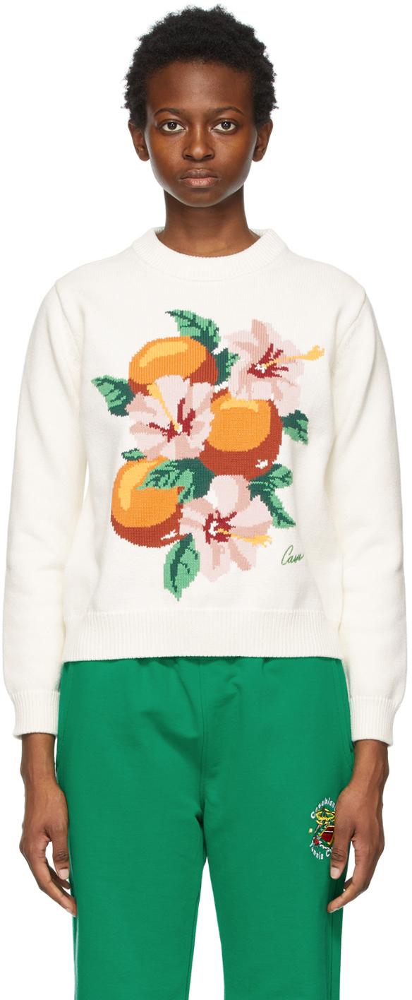 Casablanca 白色 La Fleur D'Oranger 针织衫