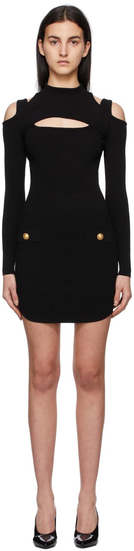 Balmain 黑色 Cut-Out 连衣裙