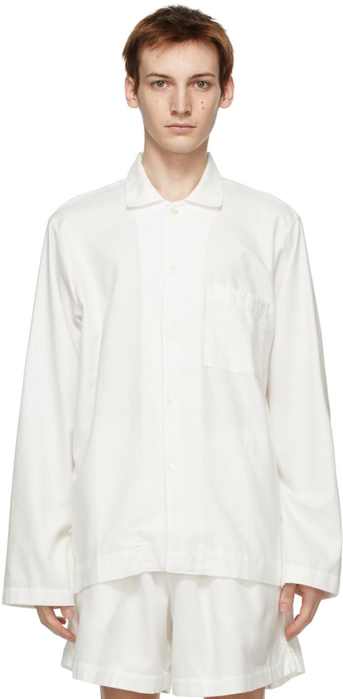 Tekla 白色法兰绒睡衣