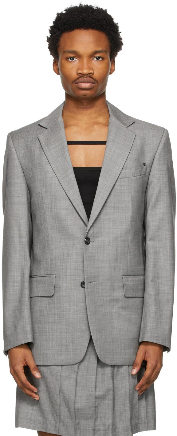 Situationist 灰色 Classic 羊毛西装外套