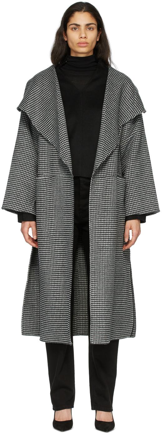Totême 黑色 & 白色 Annecy 大衣