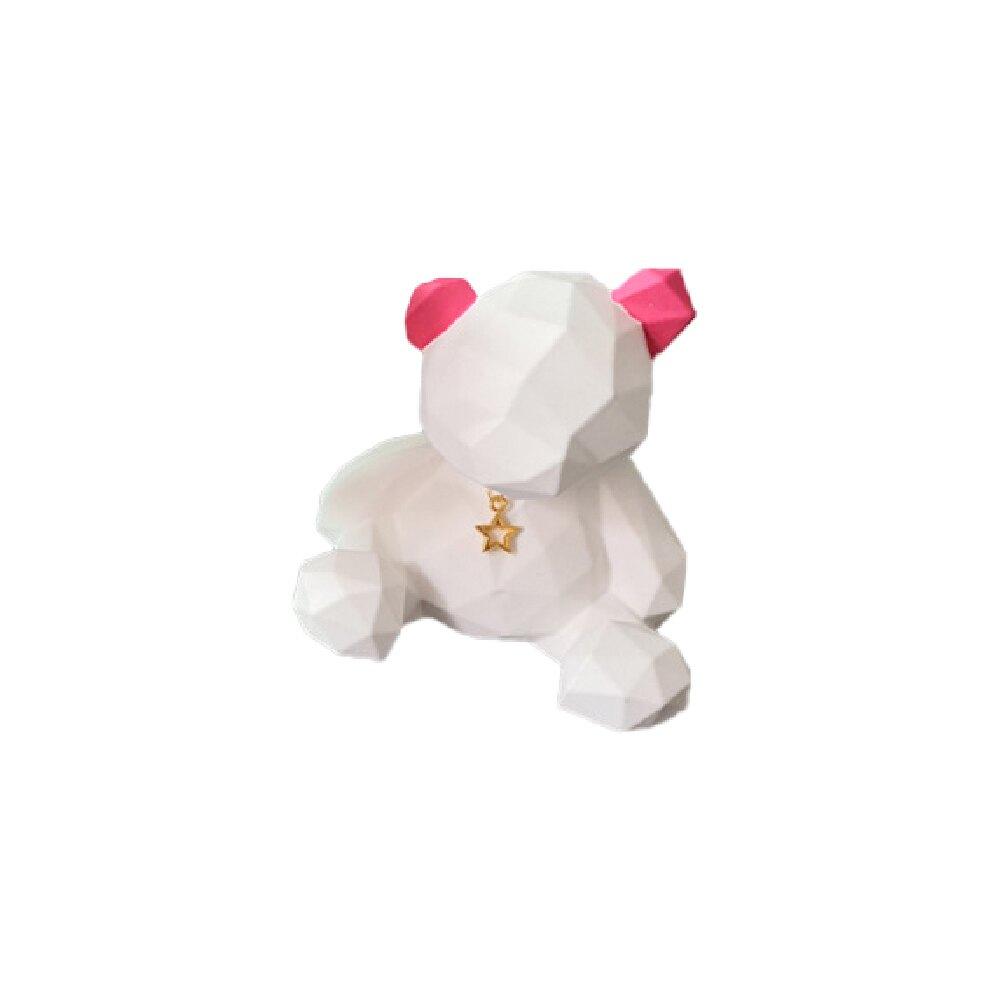 擴香石-幾何大白熊 - 粉紅耳