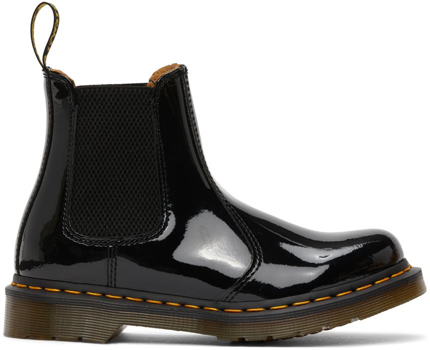 Dr. Martens 黑色 2976 Lamper 漆皮切尔西靴