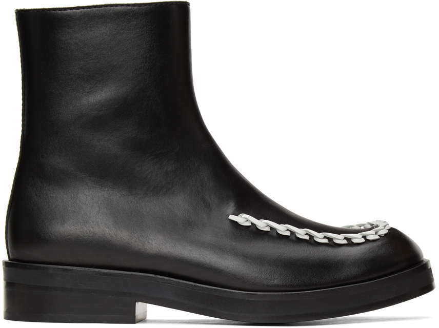 JW Anderson 黑色 Stitch 切尔西靴