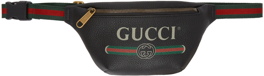 Gucci 黑色小号徽标腰包