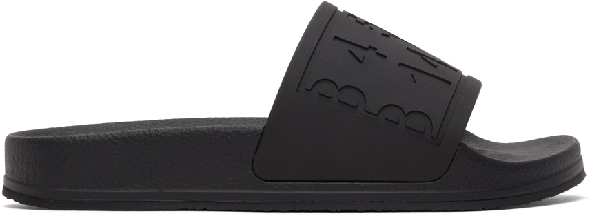MM6 Maison Margiela 黑色徽标拖鞋