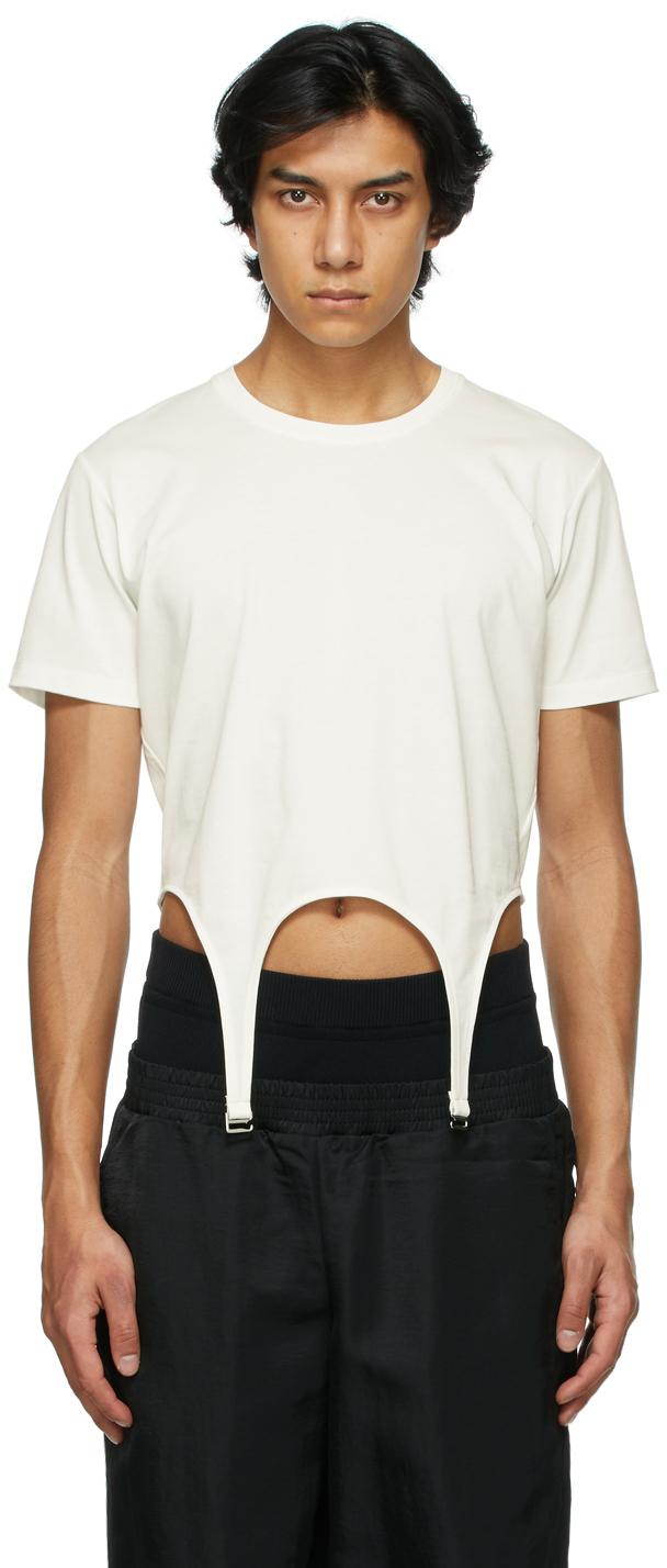Dion Lee 白色 Garter T 恤