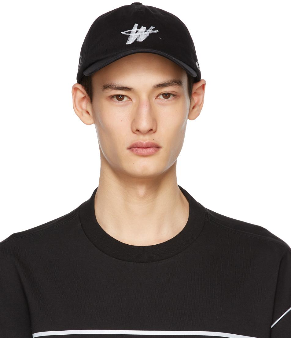 We11done 黑色 Logo Stamp 棒球帽