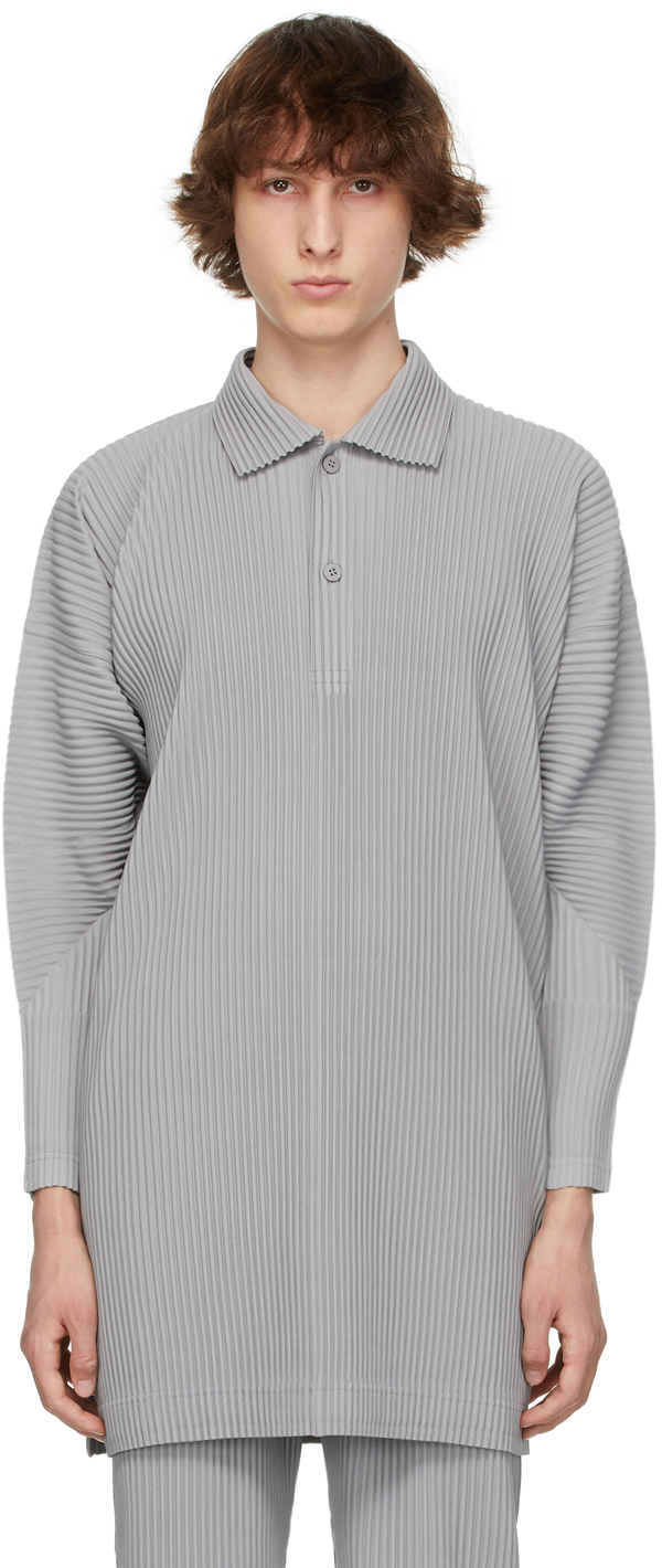 Homme Plissé Issey Miyake 灰色 Monthly Color March Polo 大衣