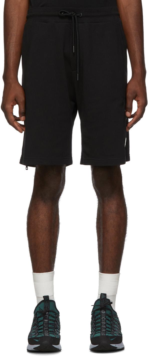 Moncler 黑色侧拉链短裤