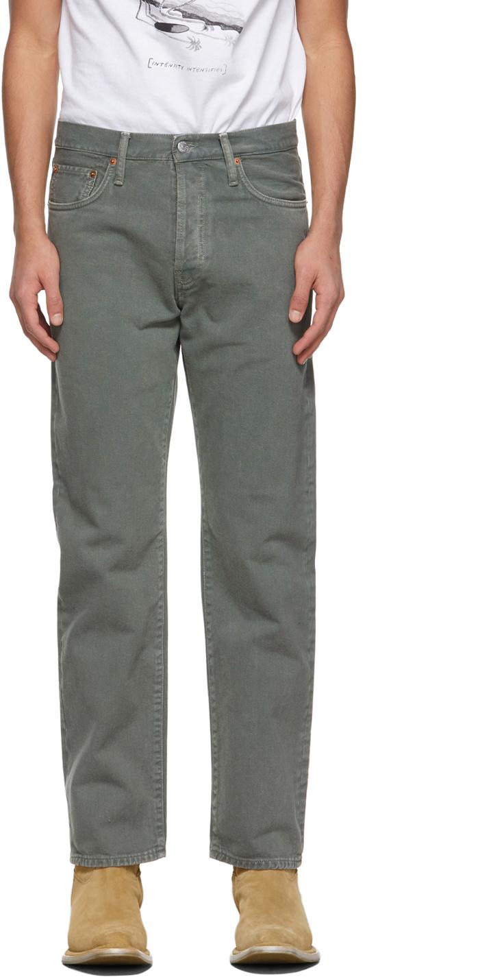 Acne Studios 绿色 Classic Fit 牛仔裤