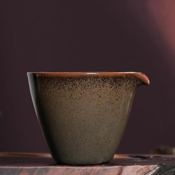 龍泉青瓷鐵胎公道杯分茶器手工柴燒勻杯功夫茶具汝窯陶瓷大號茶海