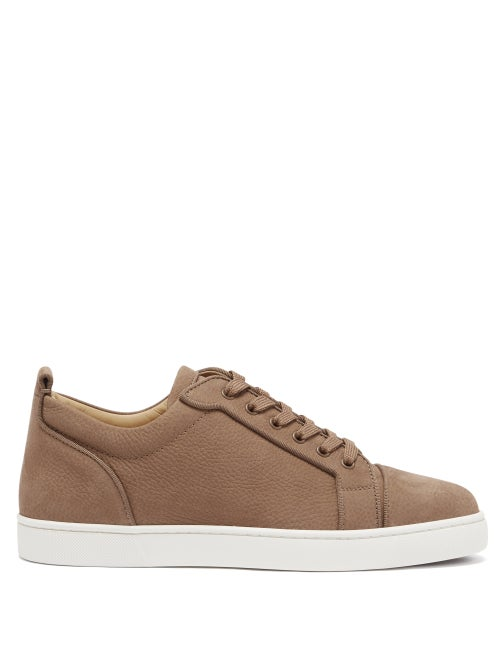 Christian Louboutin - Louis Junior Leather Trainers - Mens - Brown