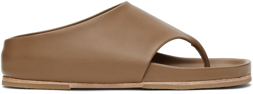 Lauren Manoogian 棕色 Tri Slide 凉鞋