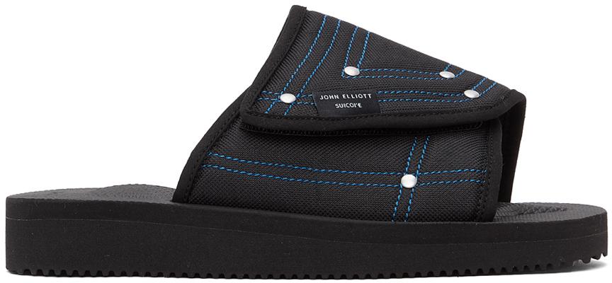 John Elliott 黑色 Suicoke 联名 SAW-CAB 拖鞋