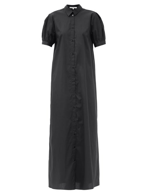 La Collection - Lana Cotton-blend Poplin Shirt Dress - Womens - Black