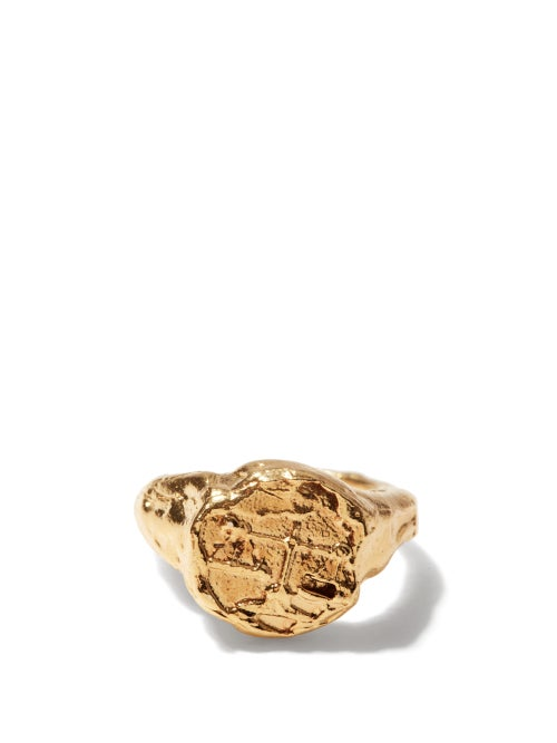 Alighieri - Libra 24kt Gold-plated Zodiac Ring - Womens - Gold