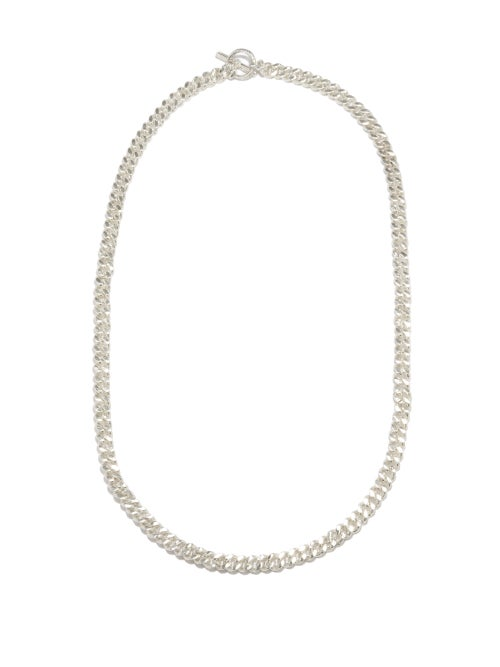 Pearls Before Swine - Spliced Xs Sterling-silver Necklace - Mens - Silver