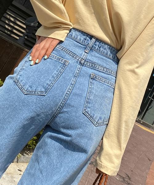 韓國空運 - Mabe wide straight jeans 牛仔褲