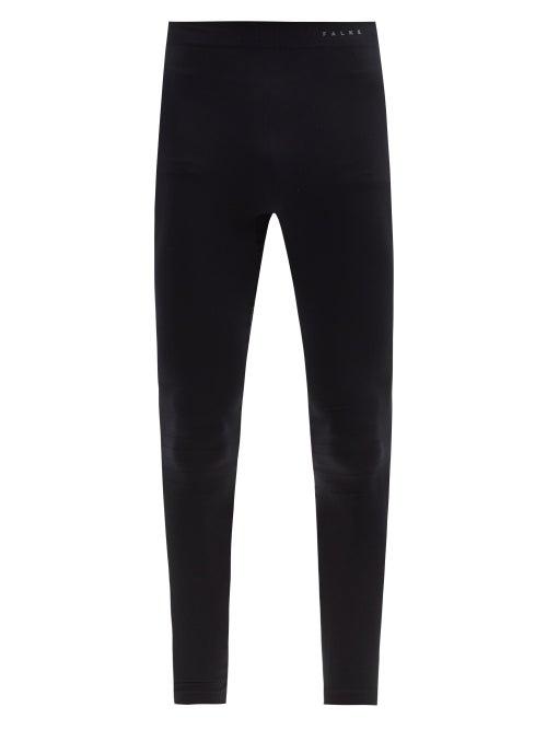 Falke Ess - Compressed Thermal Running Leggings - Mens - Black