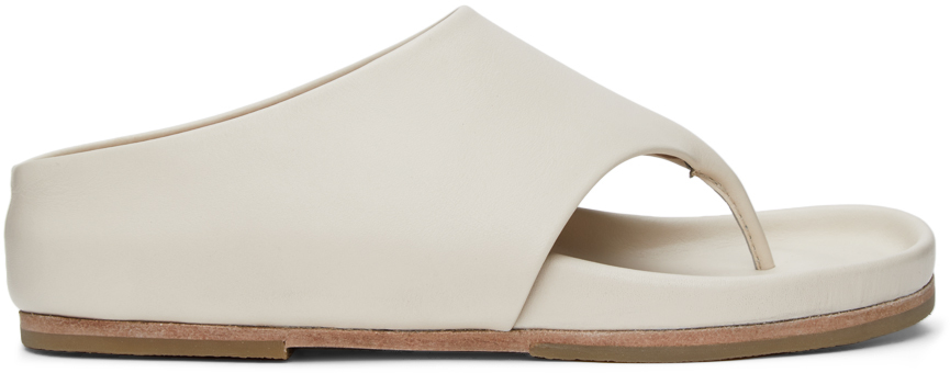 Lauren Manoogian 灰白色 Tri Slide 凉鞋