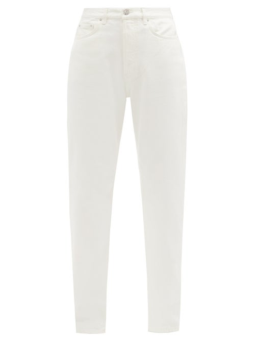 Totême - Organic-cotton Straight-leg Jeans - Womens - Ivory