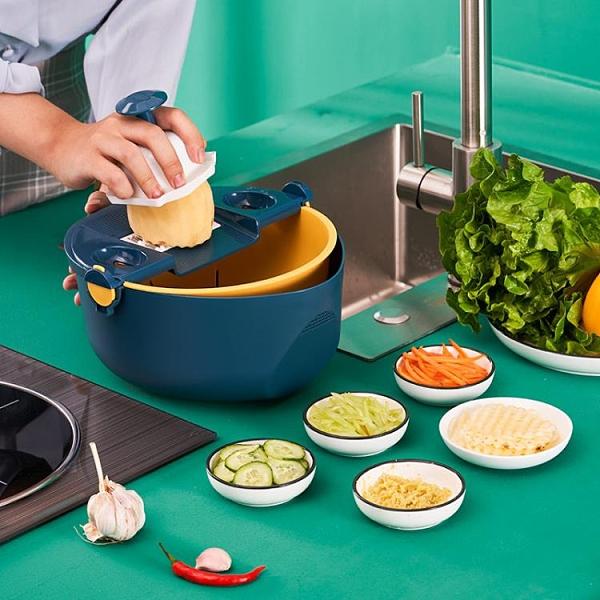切菜機 馬鈴薯絲切菜神器家用多功能削蘿蔔絲刨絲器刮絲器擦子擦絲器切片器【12週年慶】