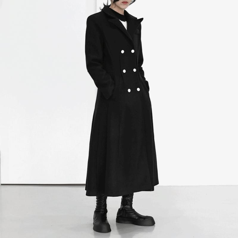 韓國空運 - Juice A-Line Double Long Coat 大衣外套