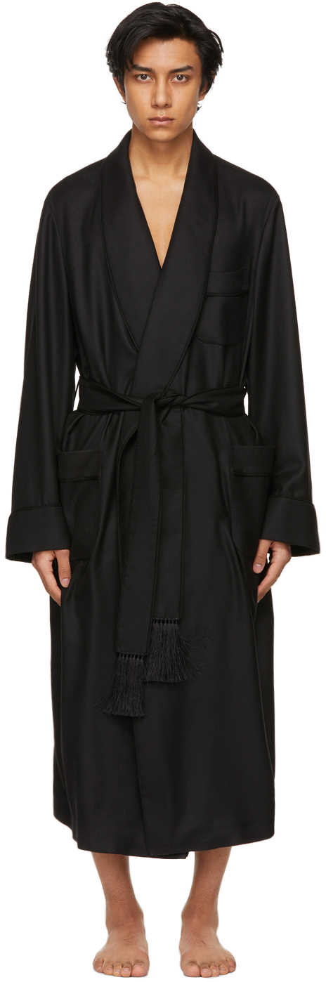 TOM FORD 黑色羊绒浴袍