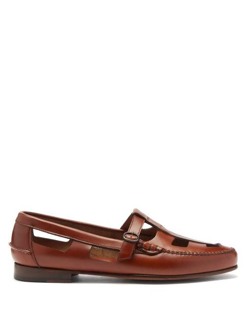 Hereu - Nestra T-bar Leather Loafers - Mens - Tan