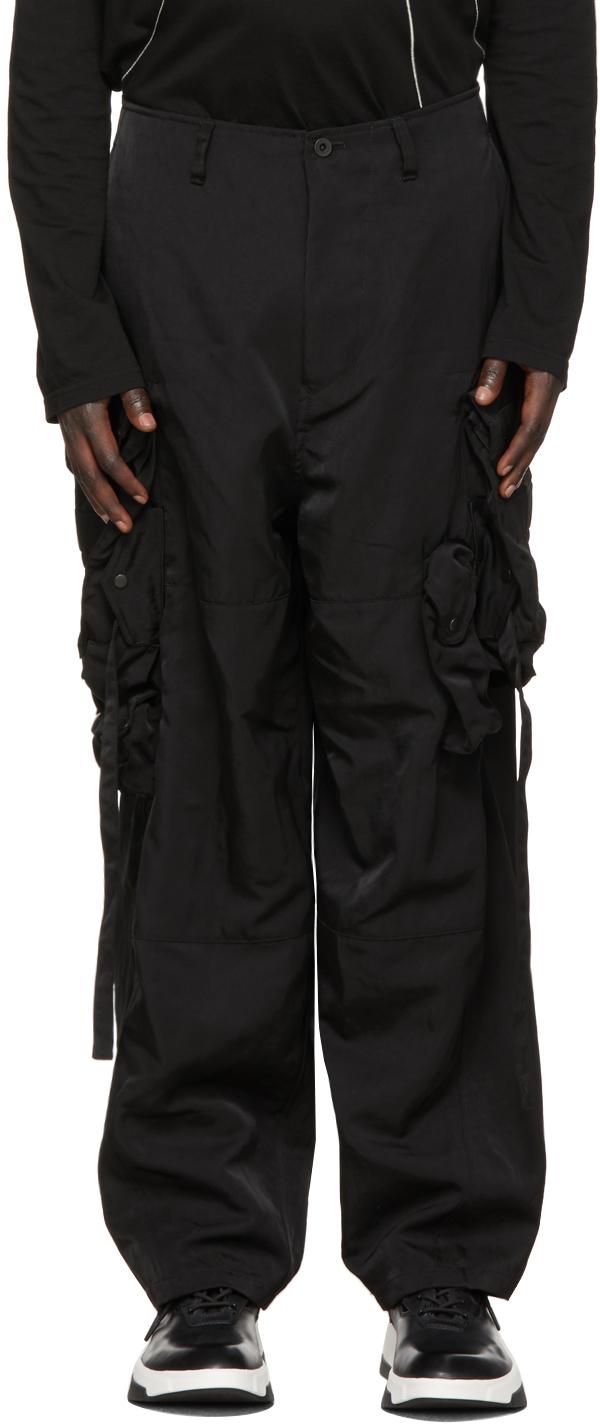 Julius 黑色 Gasmask 工装裤