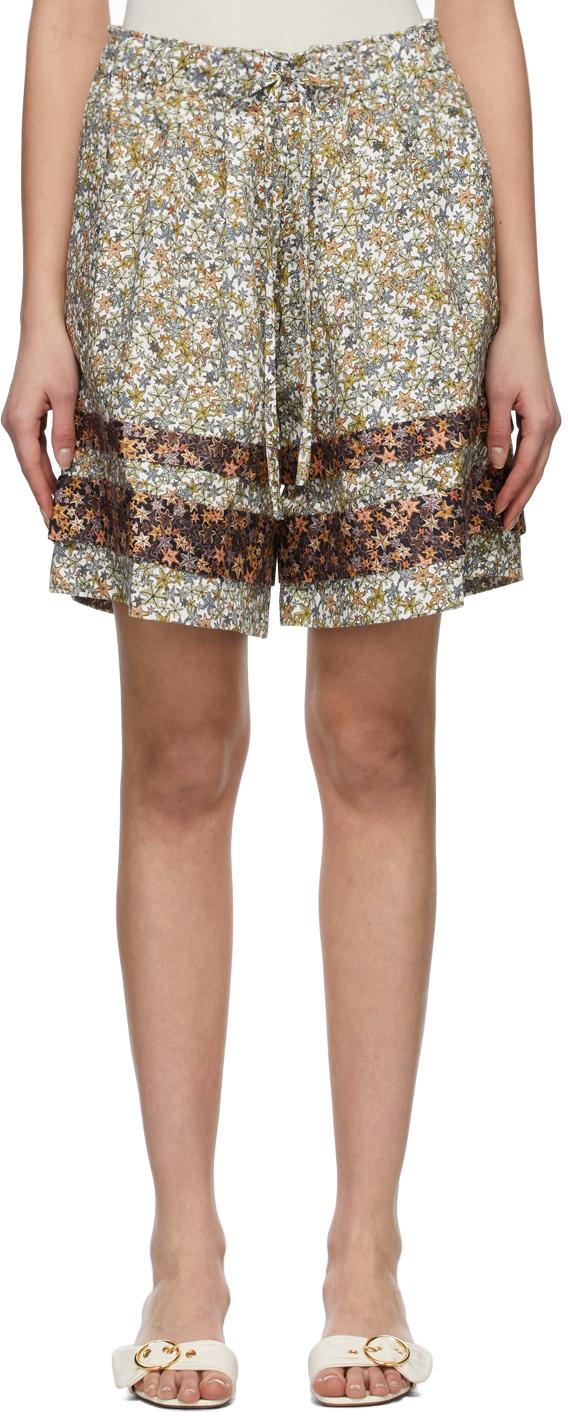 Kika Vargas 绿色 & 棕色 Gloria 短裤