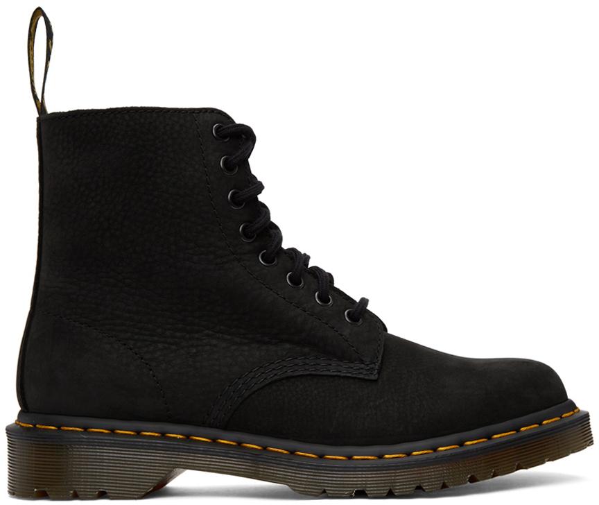 Dr. Martens 黑色 1460 Pascal 牛巴革踝靴